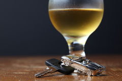 Drinking and driving Stock Photo