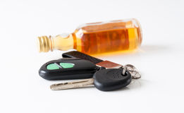 Drinking and driving Royalty Free Stock Photos