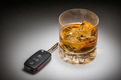 Drinking and driving concept Royalty Free Stock Images