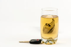 Drinking and driving , DUI Royalty Free Stock Photography
