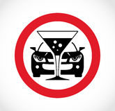 Drinking and driving sign Royalty Free Stock Photography
