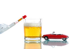 Drinking driving two. Concept of the dangers of drinking and driving Stock Photography