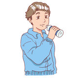 Drinking after exercise man Stock Images