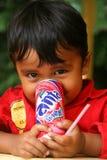 Drinking Fanta Stock Photos