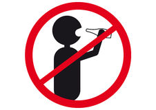 Drinking is forbidden Royalty Free Stock Photography