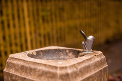 Drinking fountain. Fresh water drinking fountain in a park Stock Images