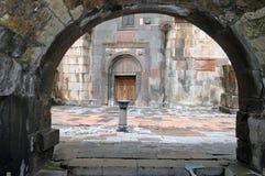 Drinking fountain in the monastery geghard Stock Photos