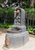 Drinking Fountain near Sagrada Familia in Barcelona royalty free stock image