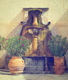 Drinking Fountain. Old Drinking Fountain in France, Instagram Effect Royalty Free Stock Photography
