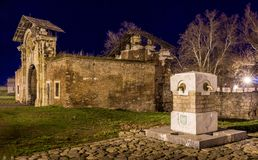 Drinking fountain and the old passage at Kalemegdan fortress in Belgrade Royalty Free Stock Images