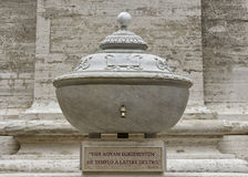 Drinking Fountain outside in Saint Peter`s Square, Vatican Museum Stock Photography