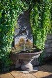 Drinking fountain wall Stock Photo
