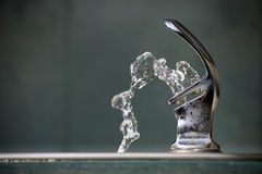 Drinking Fountain Water. Drinking Water Flowing from a Fountain Royalty Free Stock Photos