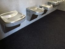 Drinking Fountains in Modern Building Stock Photos
