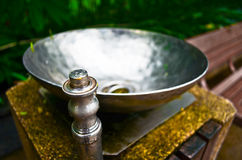 Drinking fountains in the park Stock Images