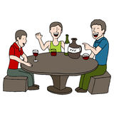 Drinking Game. An image of men playing a drinking game Royalty Free Stock Photos