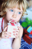 Drinking girl Royalty Free Stock Photography