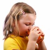 Drinking girl Stock Photo