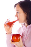 Drinking girl Stock Images