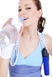 drinking girl train water Στοκ φωτογραφίες με δικαίωμα ελεύθερης χρήσης
