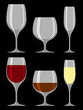 Drinking glass collection Stock Photography