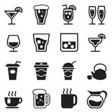 Drinking , glass, jug, cup icons set. Vector illustration Graphic Design Stock Images