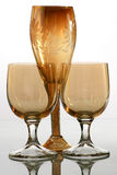 Drinking glass in sepia Royalty Free Stock Photography