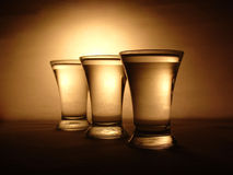 Drinking glasses Stock Image