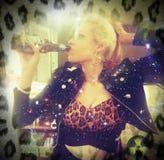 Drinking glitter stock image