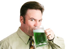 Drinking Green Beer on St Patricks Day Stock Photos