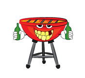 Drinking grill cartoon Royalty Free Stock Photo