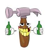 Drinking Hammer cartoon Stock Images
