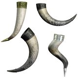 Drinking horns Royalty Free Stock Images