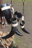 Drinking Horns Stock Photo