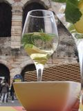 Drinking. A Hugo prosseco in Italy Stock Photography