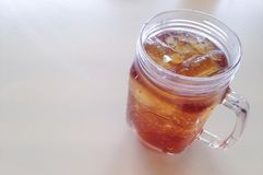 Iced peach - refreshment stock photography
