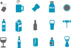 Drinking Icon Set Stock Photo