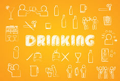 Drinking icon Royalty Free Stock Photography