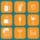 Drinking Icons Royalty Free Stock Photography