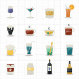 Drinking Icons Stock Images