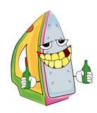 Drinking iron cartoon Royalty Free Stock Photography