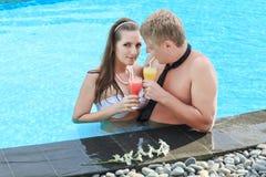 Drinking juice Stock Photo