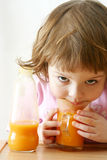 Drinking juice Stock Image