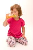 Drinking juice Royalty Free Stock Photos