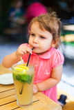 Drinking juice Stock Photography