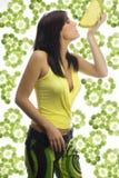 Drinking lemon royalty free stock images