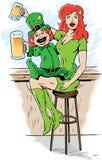Drinking Leprechaun Royalty Free Stock Image