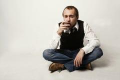 Drinking man Stock Image