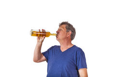 Drinking man Royalty Free Stock Photography
