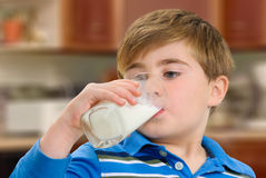 Drinking Milk Stock Photos
